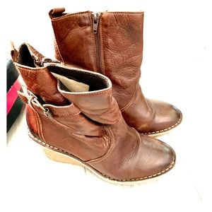 New Buffalo, leather booties, size 9.5